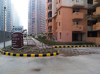 Blossom Zest 2BHK Landscaping in Progress || Logix Group